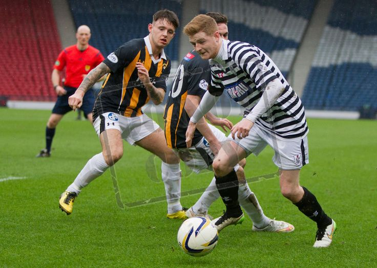 Queen's Park's Ciaran McElroy on the ball during the SPFL League Two game between Queen's Park and East Fife.