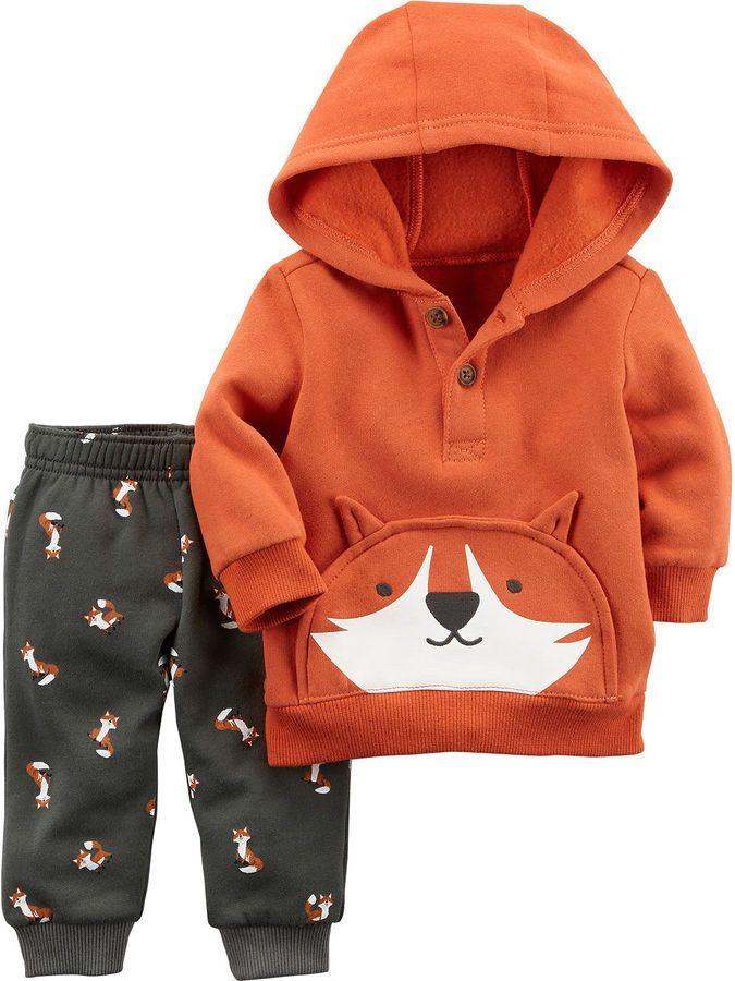 CARTERS Carter's 2-pc. Plaid Pant Set Baby Boys #WhatDoesTheFoxSay #ad