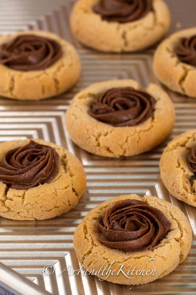 Peanut Butter Thumbprint Cookies with Reese Spread | Art and the Kitchen- a most scrumptious cookie! #DoYouSpoon
