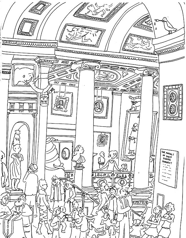 Coloring book museum of fine arts ill guides for Fine art coloring pages