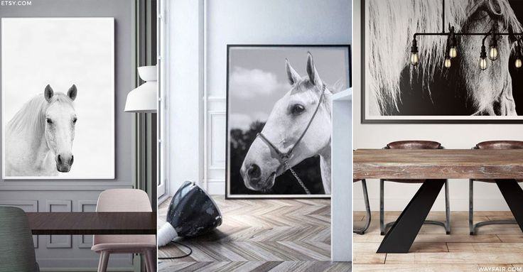 You don't have to be into the equestrian life to appreciate the beauty of horses – stunningly shot photographs are all over Pinterest and Instagram interiors accounts. For a minimalist take on the trend, look to the likes of House Curious for monochrome pony prints – teamed with simple frames, neutral walls and modern lighting, they'll add a touch of wild spirit to your home…