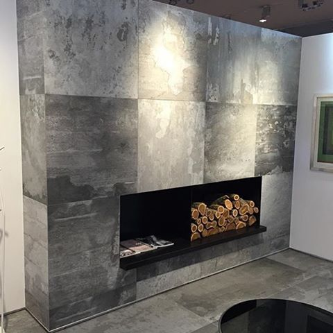 A Statement Fireplace Using Our Design Industry Series Tile Exclusively Distributed By Olympia