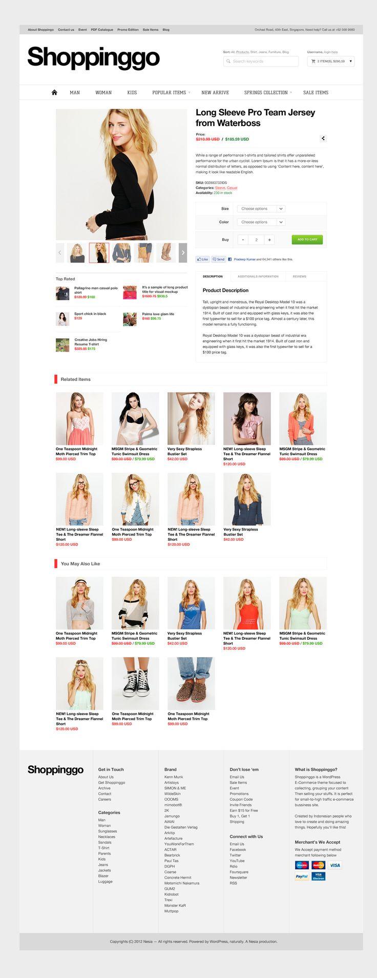 Shoppinggo - WordPress eCommerce Theme  #wordpress #theme #website #template #responsive #design #webdesign #flat #flatdesign #ecommerce #shop #clothing