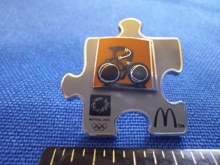 2004 Athens Olympic Sponsor Pin McDonald's Cycling Puzzle Piece