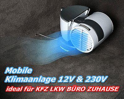 Mobile Mini-Klimaanlage 12V/230V Luftkühler für Auto, Camping, LKW PKW KFZ Büro