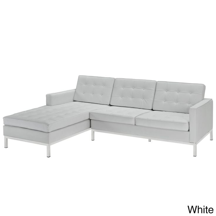 Modway Leather Right-Arm Corner Sectional Sofa