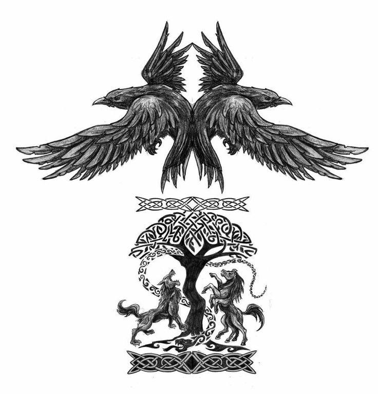 Resultado de imagen para nordic mythology tattoos