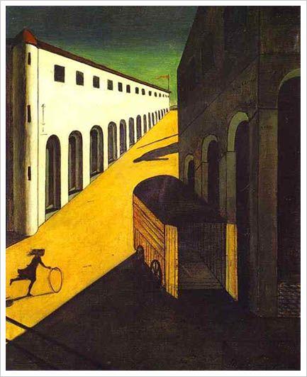 Mystery and melancholy of a street (giorgio de chirico, 1913)