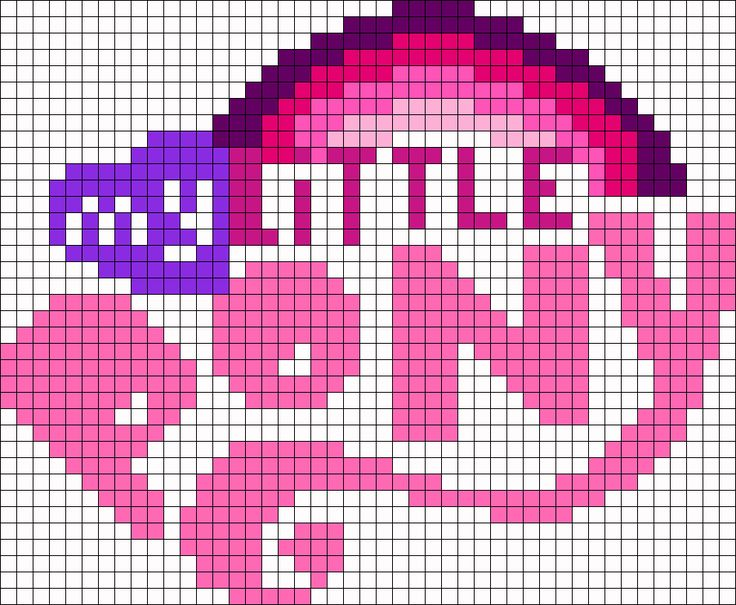 My Little Pony Logo Perler Bead Pattern / Bead Sprite