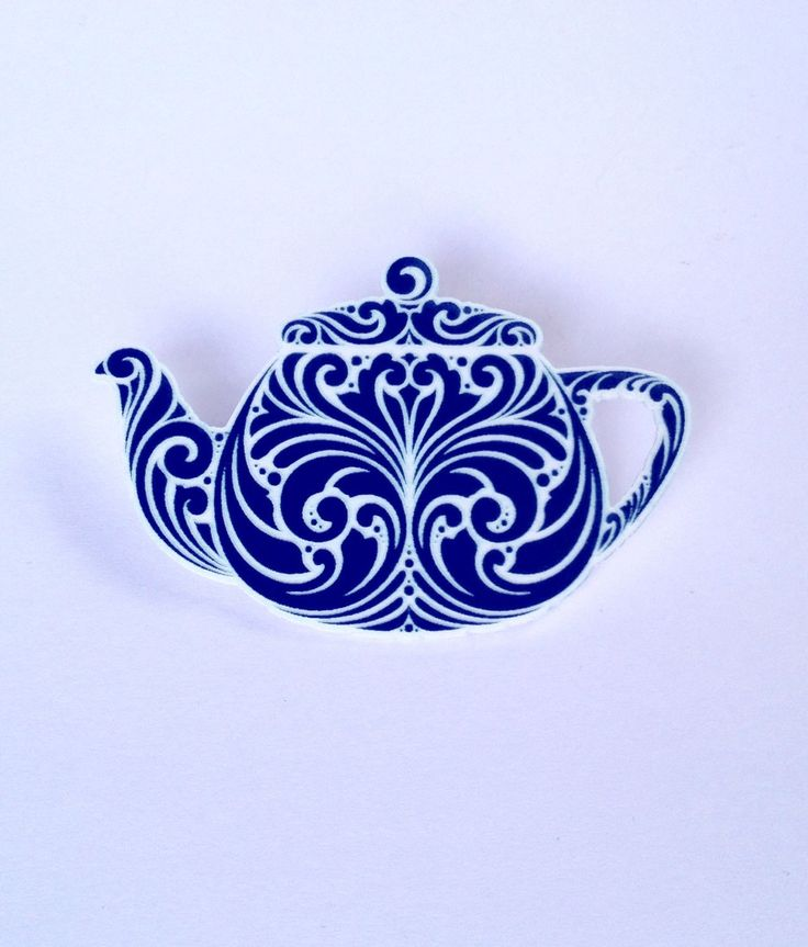 A personal favorite from my Etsy shop https://www.etsy.com/au/listing/259643992/blue-china-teapot-brooch