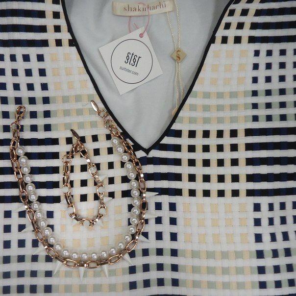 """ДЕТАЛИ: Ура пятница! Поэтому сегодня мы выбираем праздничный и немного дерзкий образ. Платье Shakuhachi в оригинальный принт """"клетка"""" дополняем ожерельем и браслетом с шипами Joomi Lim. Примерять можно у нас в шоу руме (пер. Рыльский 6).  купить: http://suitster.com/Shop/clothes/dresses/s143237mul/ - платье http://suitster.com/Shop/accessories/jewelry/wh05/ - колье http://suitster.com/Shop/accessories/jewelry/wh14/ - браслет  #suitster #online #store #fashion #style #joomilim #shakuhachi"""