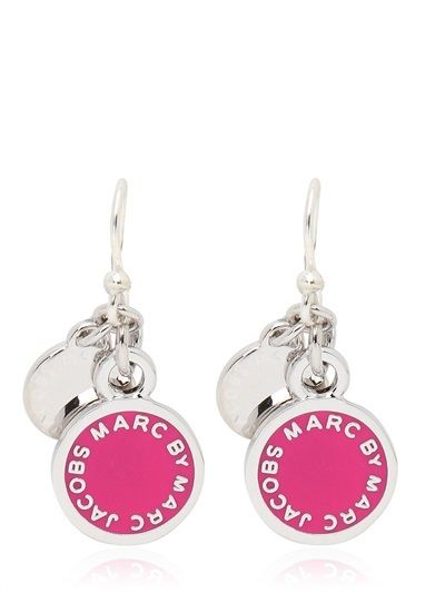 Marc By Jacobs Clic Enamel Disc Earrings On Style Co Uk
