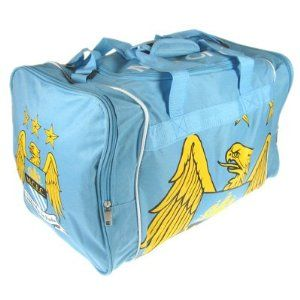 Manchester City FC Authentic EPL Holdall BL by Manchester City F.C.. $44.95. Official Licensed Product. With shoulder strap and end pocket. length 52cm x height 31cm x depth 30cm. Imported from the UK Ships from the USA. Brand new with tags. We buy our Manchester City soccer bags direct from the club's representatives in the EU. All Manchester City soccer bags come in official Manchester City packaging with hologram and/or bar codes.