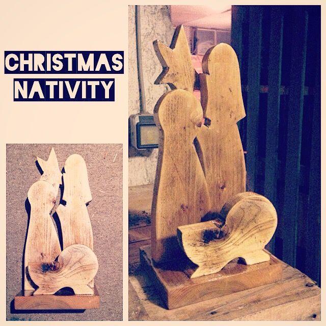 #Christmas #Nativity - Presepe realizzato con legno di bancale riciclato.