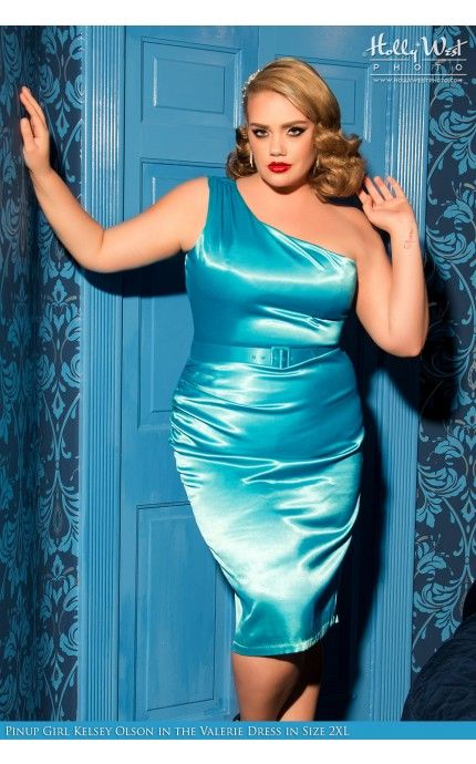 Pinup Couture- Vivien Dress in Bright Blue - Plus Size | Pinup Girl Clothing