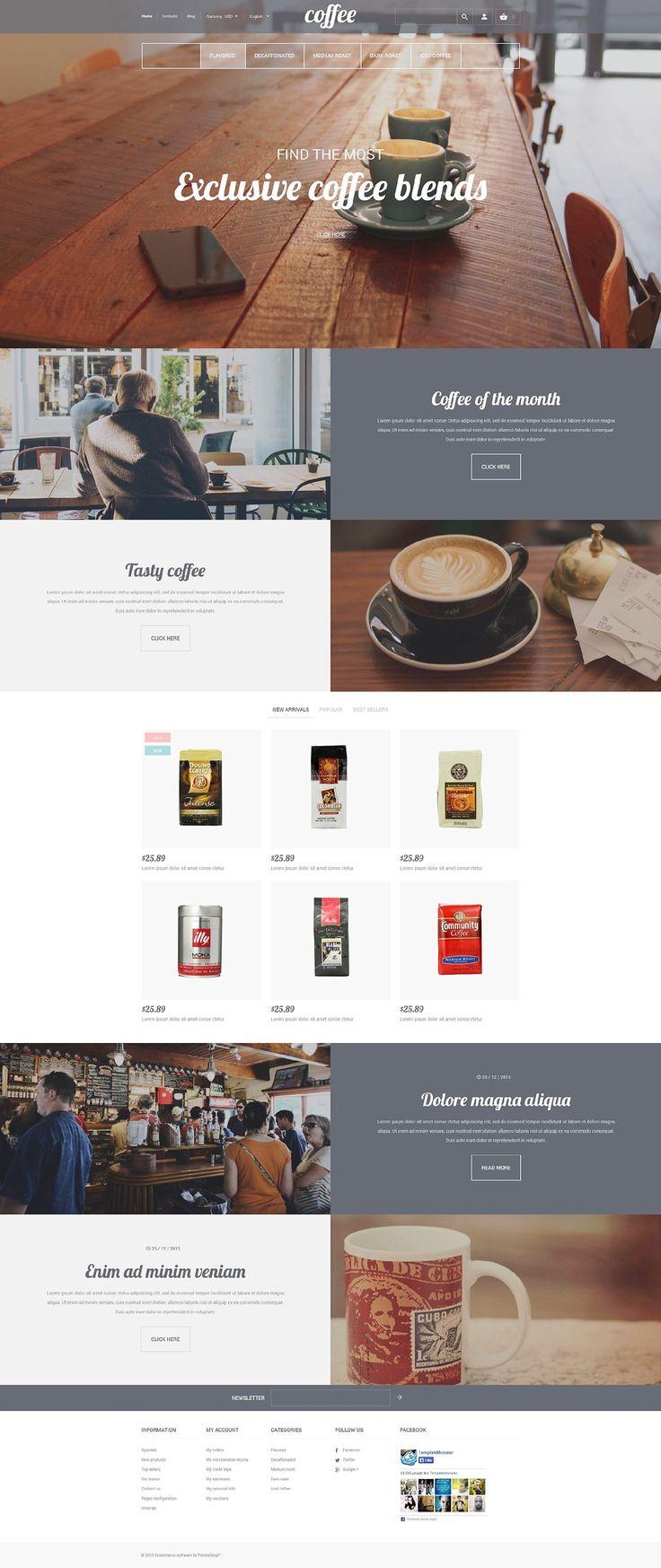 Coffee Shop Responsive PrestaShop Template http://www.templatemonster.com/prestashop-themes/56108.html?utm_source=pinterest&utm_medium=timeline&utm_campaign=cofprsh