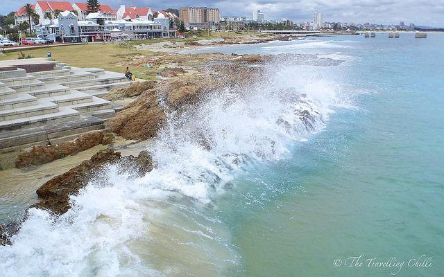 Port Elizabeth shoreline in South Africa Love the sea here