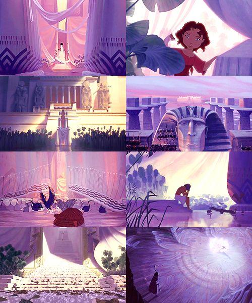Non-Disney movies - color meme6. Prince of Egypt- violet