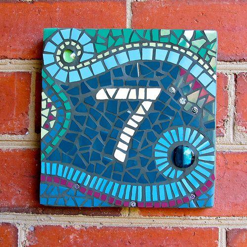 DavRah Mosaics - House Number   Flickr: Intercambio de fotos