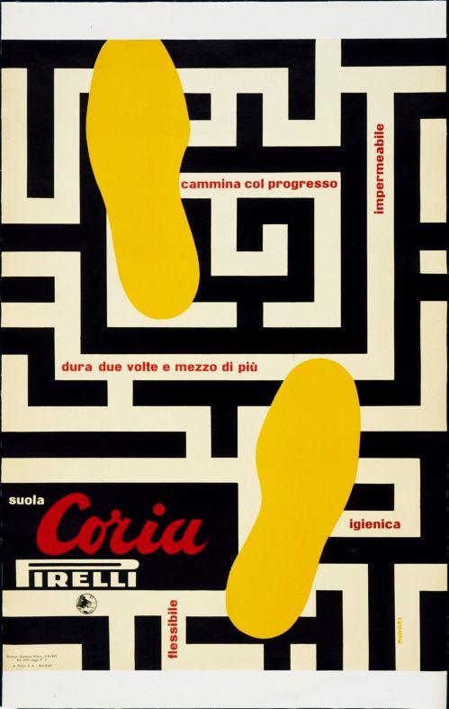 Bruno Munari, Pirelli, Suola Coria, 1953