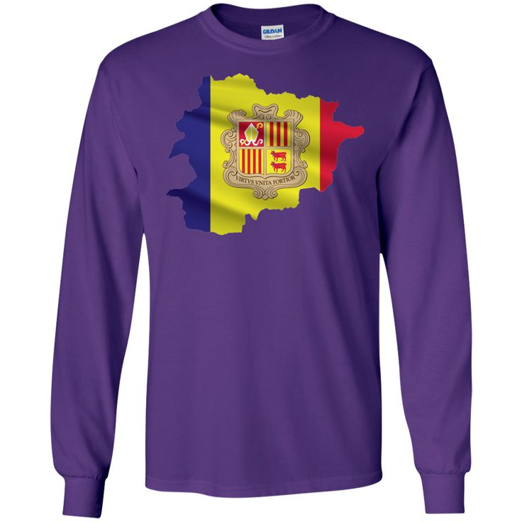 andorra flag -01 LS Ultra Cotton Tshirt