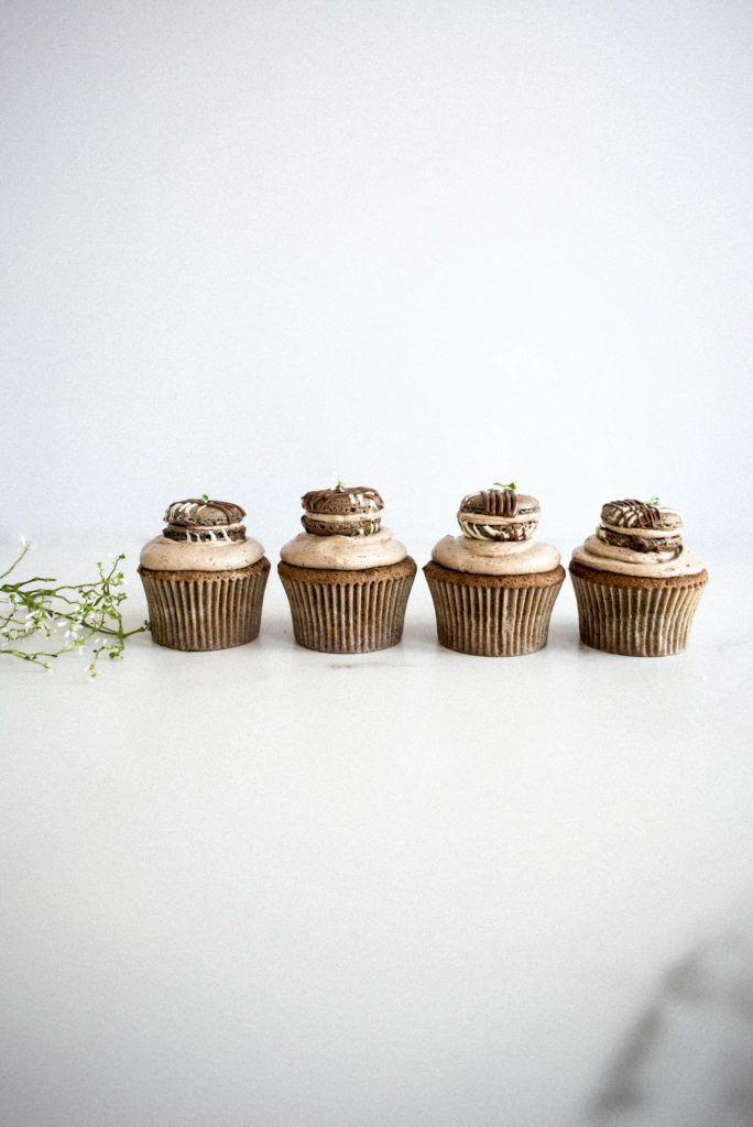Cafe au Lait Macaron Cupcakes 2