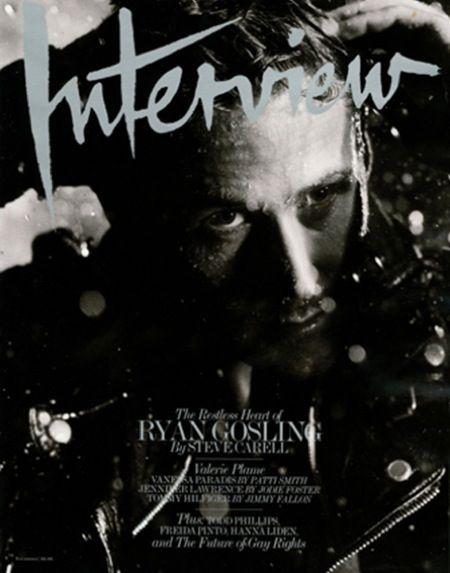 Ryan Gosling in Interview Magazine