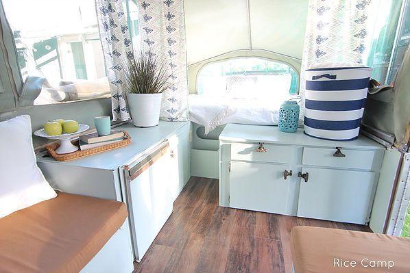 Rice Camp - Pop up tent trailer remodel. # Camper # glamour Like and Repin. Thx Noelito Flow. http://www.instagram.com/noelitoflow