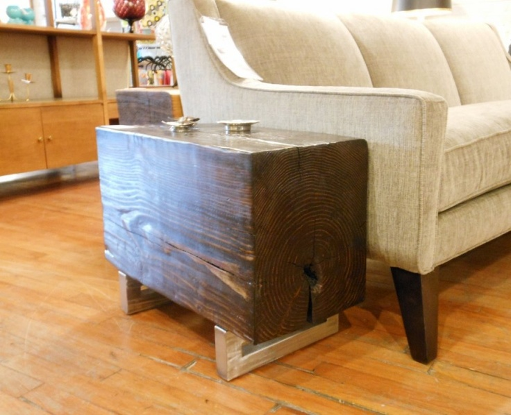 Block Of Douglas Fir Reclaimed Wood Table Or Bench Industrial Machine Age Urban Pinterest