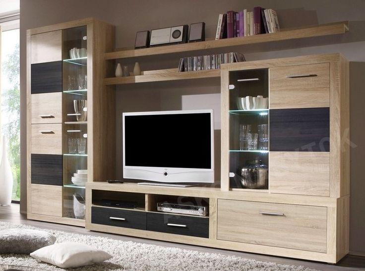 ob vacia stena cancan 5 dub sonoma siv p nia s. Black Bedroom Furniture Sets. Home Design Ideas