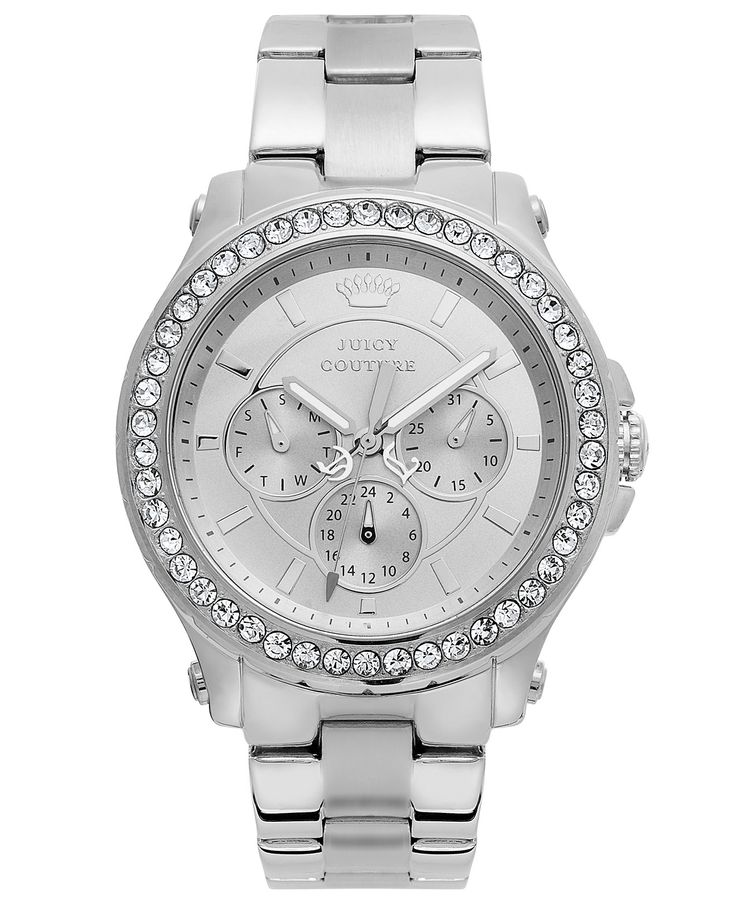 Juicy Couture Watch, Women's Pedigree Stainless Steel Bracelet 38mm 1901048 - Watches - Jewelry & Watches - Macy's
