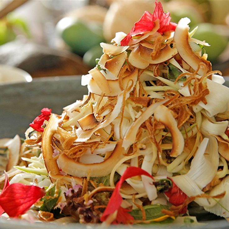 Try this Palm heart salad recipe by Chef Nick Holloway. This recipe is from the show The Great Australian Cookbook.