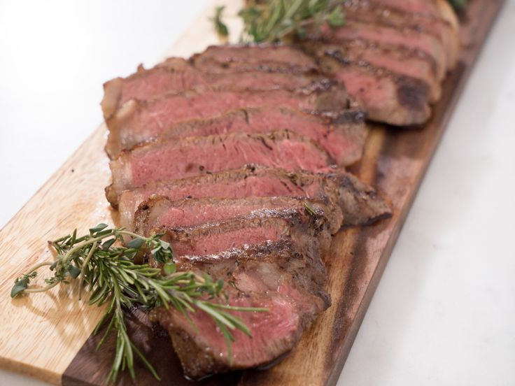 Easy Pan Steaks recipe from Ayesha Curry she also added 2 whole garlic cloves to the pan with rosemary before putting in the oven