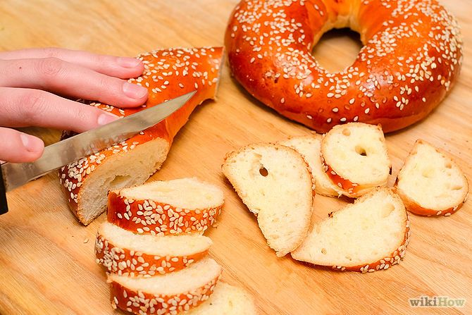 Use up yr excess bagels and make bagel chips