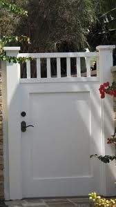 single painted wooden gate - Google Search