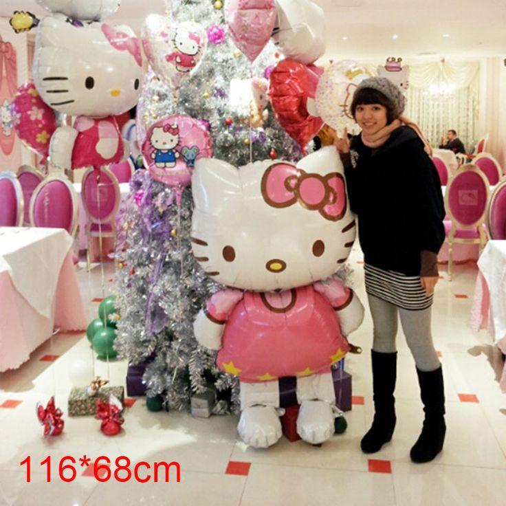 116*68cm Hello Kitty Balloons for Birthday Wedding Decoration
