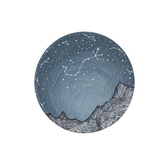 Fine Art Print  Escorpio y las montañas Blue por elisemahanfineart