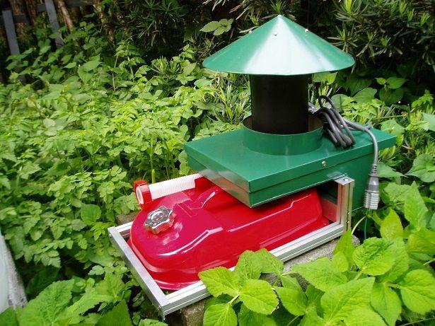 ヤブ蚊の悩みを根本解決、ヤブ蚊、高性能蚊取り機、屋外用蚊取り機、蚊取り器(ジャイコップ製)、ヤブ蚊対策