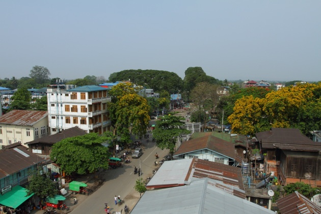 Myitkyina town view from New Light Hotel