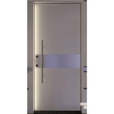 Porta Blindata serie Metal  pannelli con inserti in acciaio personalizzabile online , entra e inserisci le misure