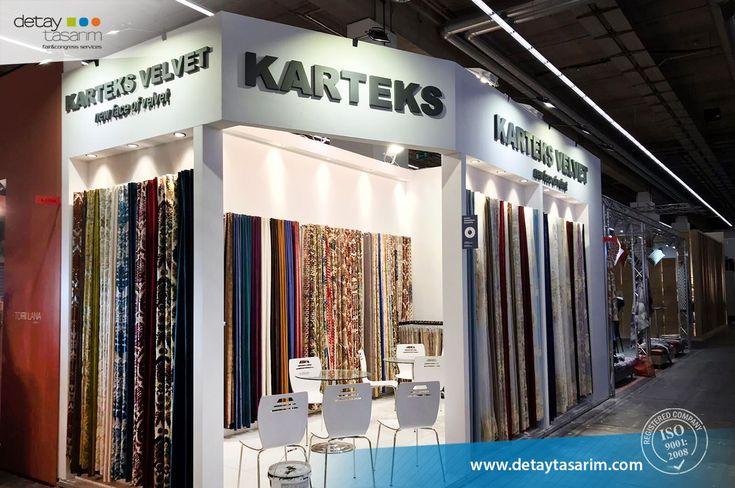 Karteks / Heimtextil 2018 Frankfurt - Germany  /  www.detaytasarim.com / #fair_stand #turkey_fairs #stand #exhibition #icvbmember #heimtextil #textile_fair