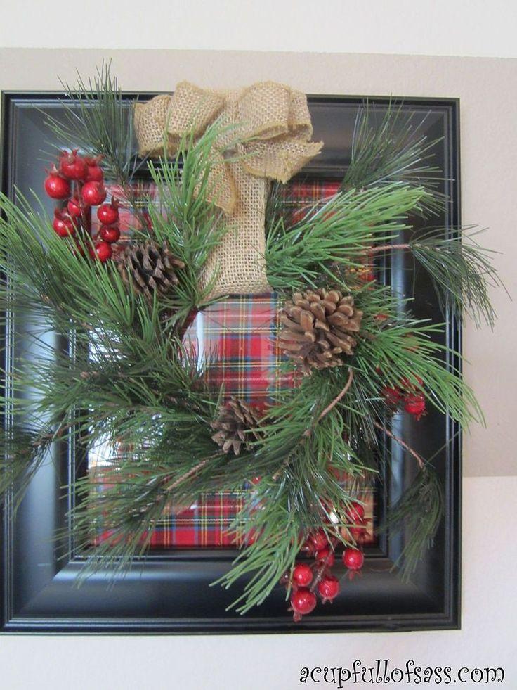How to make a Christmas frame wreath