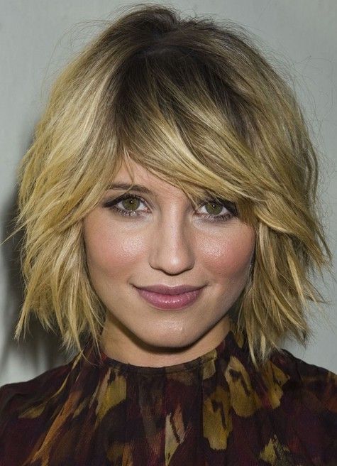 Funky Choppy Bob Haircut -- cute cut, wonder how it would work out with curlier hair though...