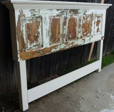 Old Door Headboard - Made for a King Size Bed