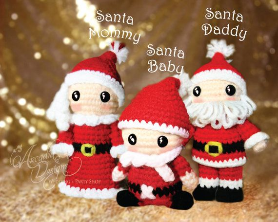 Christmas Ornament Crochet Amigurumi Santa Claus by All4partytime