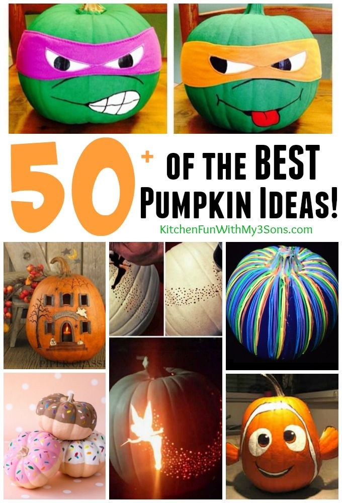50 of the best pumpkin decorating ideas - Cute Halloween Crafts
