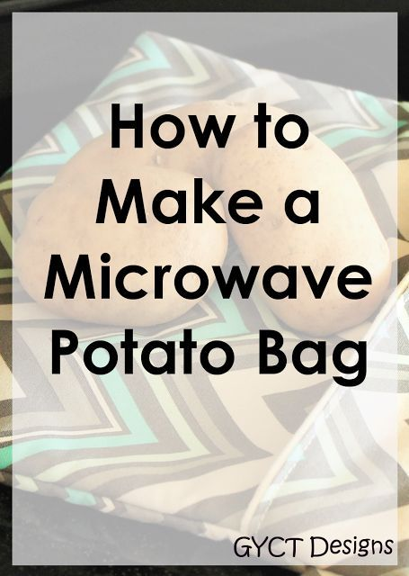 How to make a microwave potato sack, bag or pouch