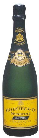 Heidsieck Monopole Blue Top was the official champagne of the Titanic, so it is my favorite for parties. Had this on a flight to Tokyo