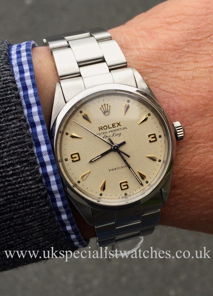 Rolex Air king 5500 Vintage 1968 Rare 369 Arrow Head