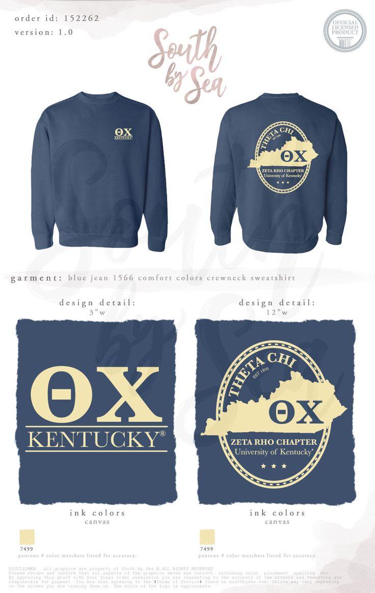 Theta Chi | Kentucky Home State Design | Vintage T-Shirt Design | South by Sea | Greek Tee Shirts | Greek Tank Tops | Custom Apparel Design | Custom Greek Apparel | Fraternity Tee Shirts | Fraternity Tanks | Fraternity Shirt Designs